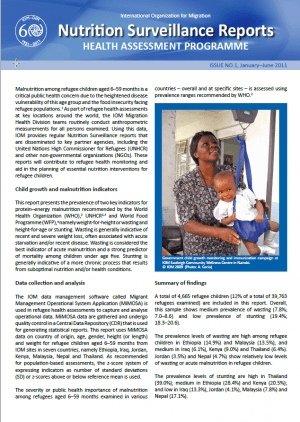 Nutrition Surveillance Report (Issue No. 1, January-June 2011)