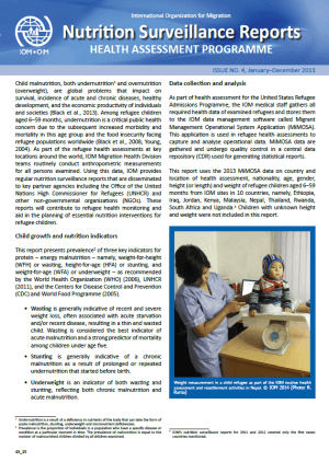 Nutrition Surveillance Report (Issue No. 4, January–December 2013)