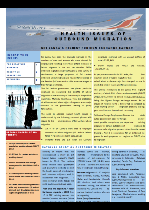 Health issues of outbound migration