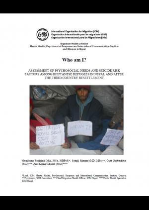 Who am I? Assessment of psychosocial needs and suicide risk factors among Bhutanese refugees in Nepal and after the third country resettlement