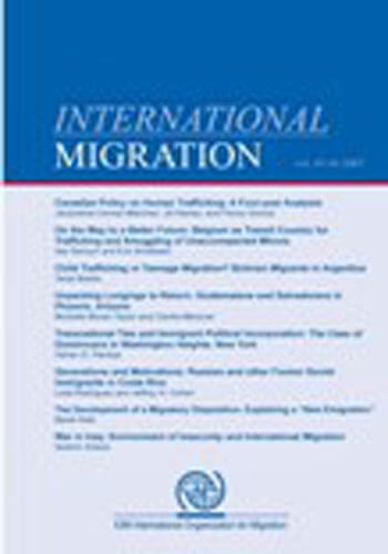 International Migration, vol 46, issue 5