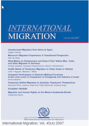 Health Status of Temporary Migrants in Urban Areas in Vietnam, In:International Migration, Vol. 45(4) 2007